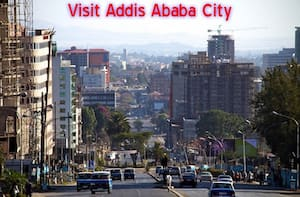 Buildings in Addis Ababa City near Tewodros Square