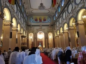 INSIDE Holy Trinity Cathedral in Addis Ababa
