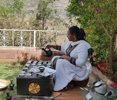 Ethiopian Coffee Ceremony to experience with LIVE virtual city tour in Addis Ababa