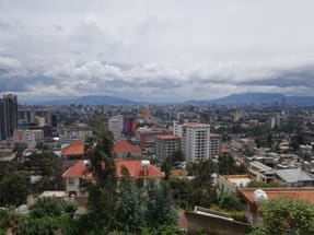ADDIS ABABA CITY Panoramic View from near Shola Market