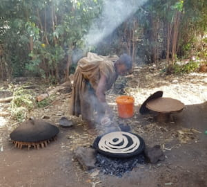 How to bake Enjera - Ethiopian bread